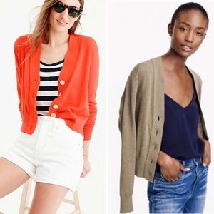 SET OF 2 NWT J.Crew Lightweight Cropped Cardigans